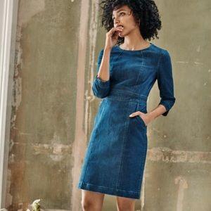 Boden Coraline Denim Zip Back Jean Dress -2P